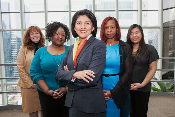 """A DIVERSE TEAMHeredia-Lopez advocates for diversity and teamwork. """"Teams of people find better solutions than brilliant individuals working alone, and the best group decisions are those that draw upon the qualities that make each of us unique,"""" she says."""