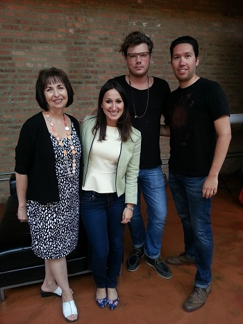 L to R: Loft on Lake Owner, Cher Garrett; PR Director, Vianni Busquets; Photographer Bryan Sheffield; Publisher, Chris Howe