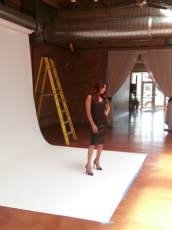Eva Longoria posing for the inside spread of Hispanic Executive.