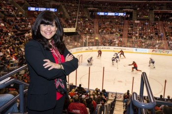"""Every time I drive up to this gorgeous arena, there's a big sense of pride. I just can't believe I'm a part of it."" —Elisa Hernandez, VP of Human Resources, Sunrise Sports & Entertainment"