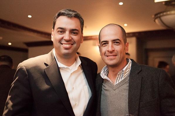 Eduardo Tobon, President of Diners Club International with longtime friend Juan Felipe Henoa Hernandez