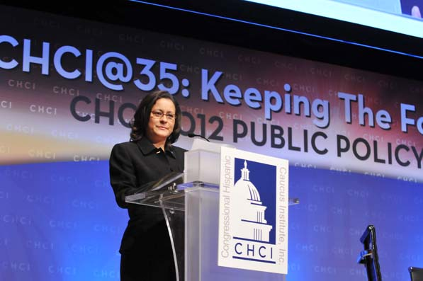 """Esther Aguilera believes many Latinos just need a chance to shine and CHCI is designed to provide that opportunity. """"We're really changing life trajectories. That's what we do,"""" Aguilera says."""