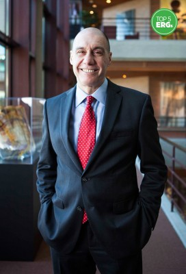 Gustavo Viano stands in the Oak Brook, Illinois headquarters of McDonald's. He serves on the corporate advisory boards of HACR and National Council of La Raza among others.