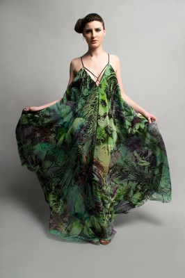 Parachute gown by Valero