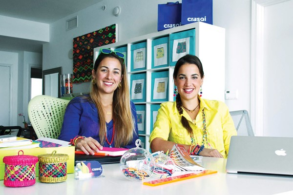 Astrid (left) and Alex (right) Pedregal, founders of Crasqí.