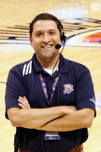 Jason Quintero, Senior Manager of Game Presentation and Entertainment, Oklahoma City Thunder
