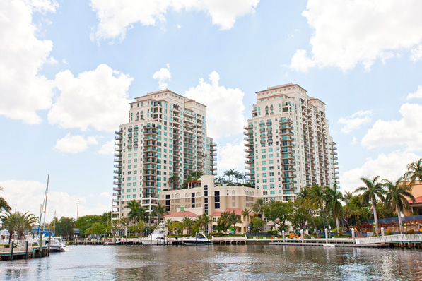 Two 22-story towers comprise the Symphony, a 338-unit condo property managed by Castle Group on the waterfront in downtown Fort Lauderdale.