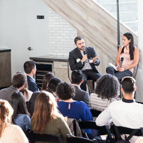 #NextGenLíderes speakers Steven Gonzalez and Lindsey Morfin