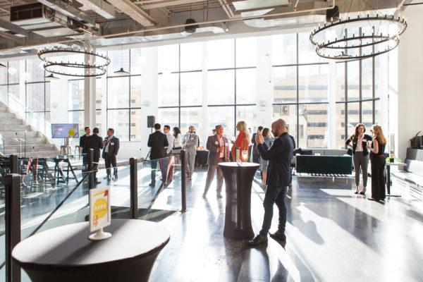 Mezzanine NYC event space with #NextGenLíderes attendees