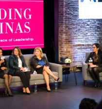 Leading Latinas panel on stage