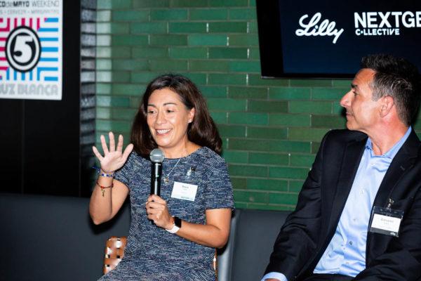 Rocio Lopez talking at NextGen Collective event in Chicago
