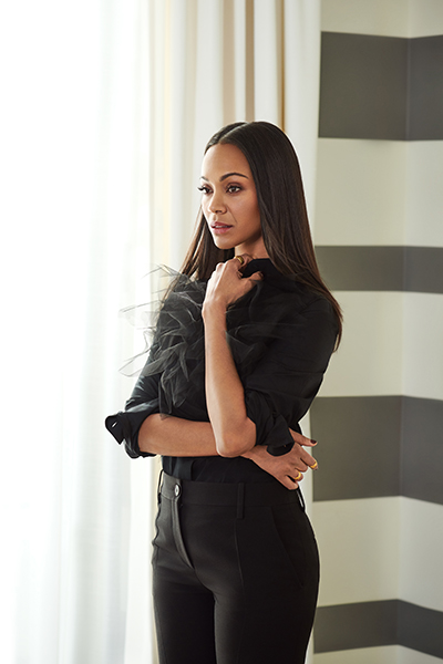 Zoe Saldana, founder, BESE, photo by Peter Yang