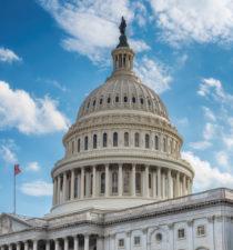 Capitol Building Blue Sky Clouds
