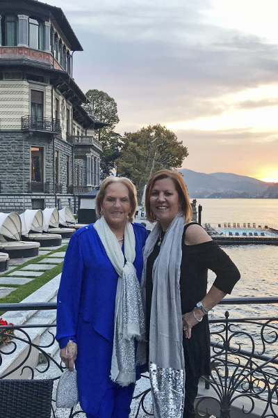 Carol Alexander and Vicky Garcia at Lake Como