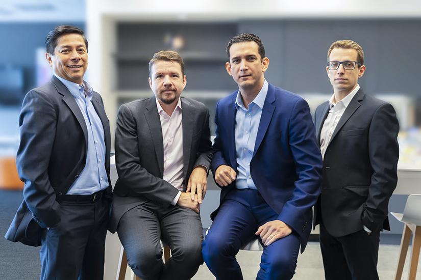 Duncan Chilet, Alex Romantchik, Dumitrache Martinez, Ruben Carbajo, group portrait, Essity Professional Hygiene, financial leaders