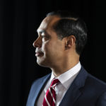Julián Castro, candidate for US president, side profile, thumbnail
