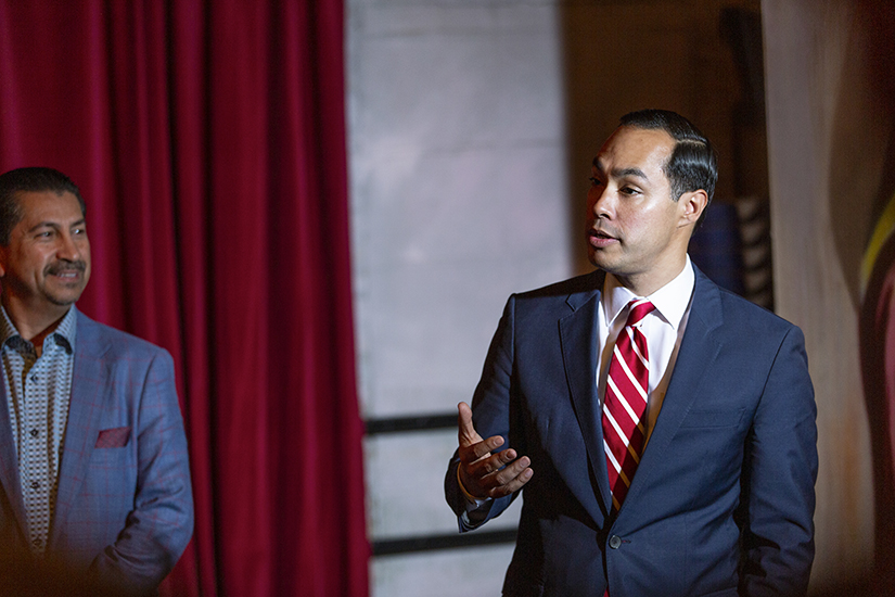 Julián Castro speaking at event, horizontal candid