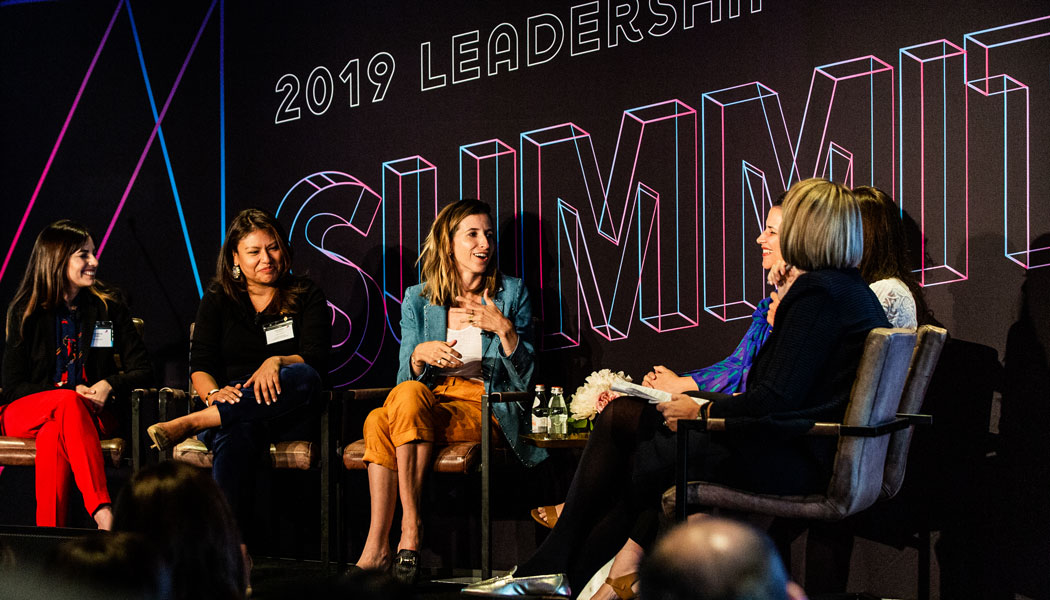 Latina entrepreneurs panel_2019 Leadership Summit The Alumni Society_Katia Beauchamp speaking