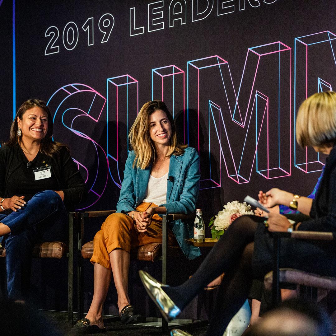 Katia Beauchamp and Carolina Huaranca during the June 2019 panel discussion