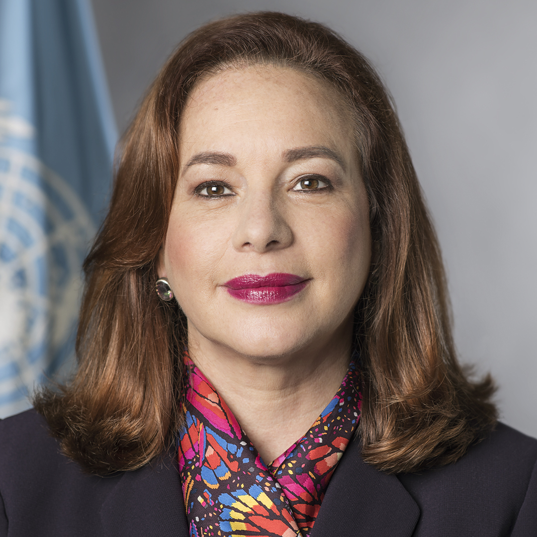 María Fernanda Espinosa, president of the seventy-third session of the United Nations General Assembly, official UN portrait, thumbnail image