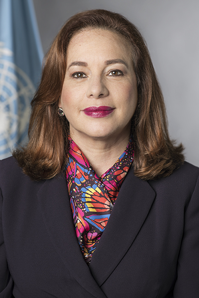 María Fernanda Espinosa, president of the seventy-third session of the United Nations General Assembly, official UN portrait