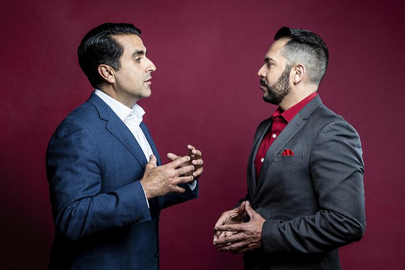 Mark L. Madrid and Pedro A. Guerrero talking
