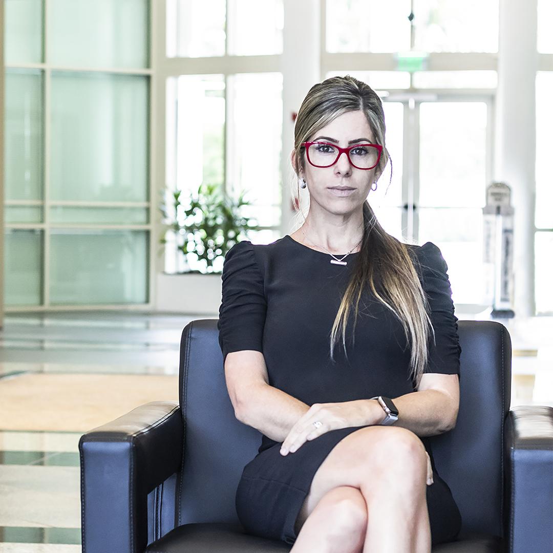 Camila Casale, Chief Marketing Officer, Claro Enterprise Solutions, portrait sitting, thumbnail