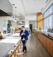 Talita Ramos Erickson, pictured in the demo kitchen of Barilla America HQ in Northbrook on April 26, 2019