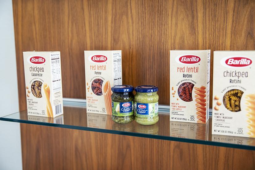 Barilla Pastas on display at Barilla America HQ in Northbrook