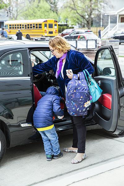 Talita Ramos Erickson picking up her son on April 26, 2019