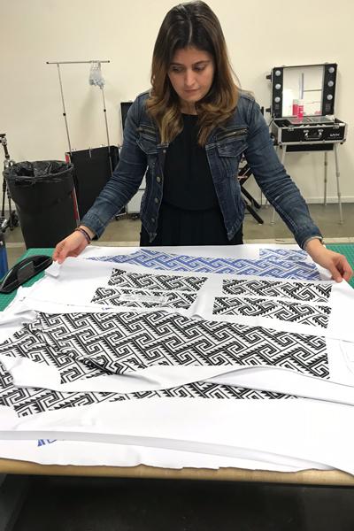 Natalie Arribeno, Nubia Natalie, portrait fabric