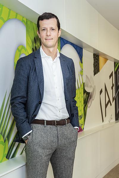 Sergio Ezama, PepsiCo, standing against wall banner image