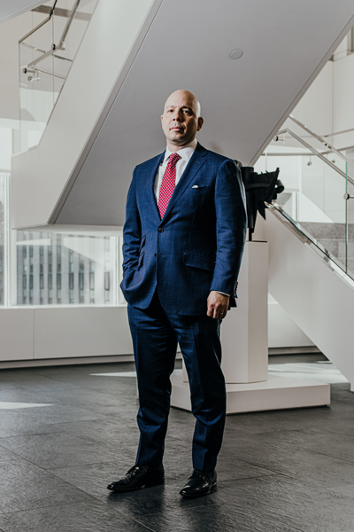 Rob Negron, AXA Equitable Life Insurance, portrait standing