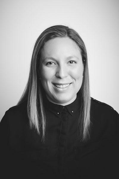 Andrea Perez, bw portrait
