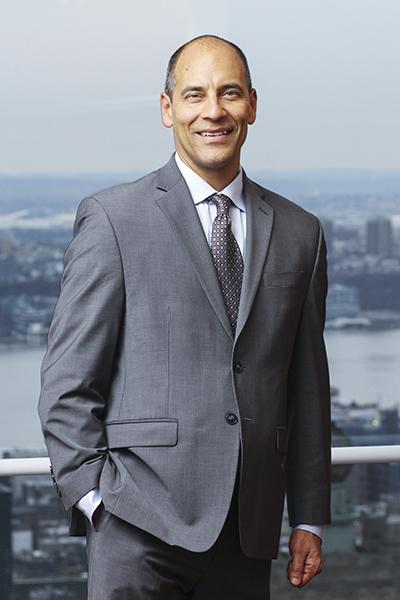 Andy Velez, portrait on balcony/rooftop