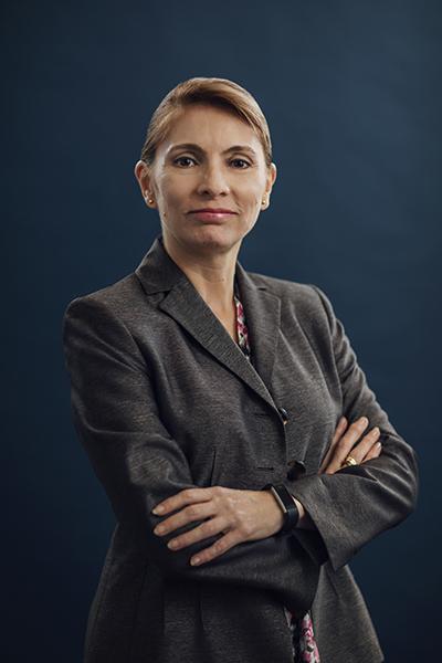 Graciela Ivonne Monteagudo, portrait arms crossed
