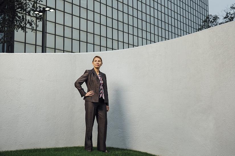 Graciela Ivonne Monteagudo, portrait standing outdoors