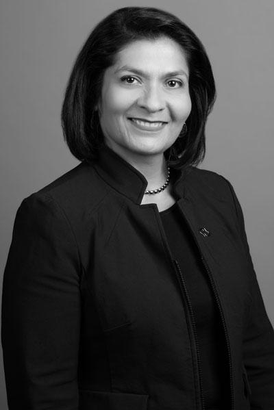 Dr. Maria Carillo, bw portrait