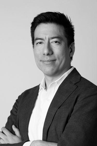 Miguel Quiroga, bw portrait