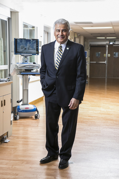Pete Delgado, portrait in medical center
