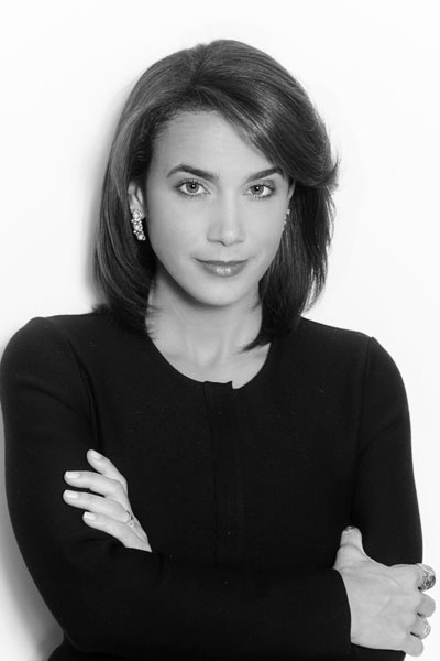 Cristina Antelo, bw portrait