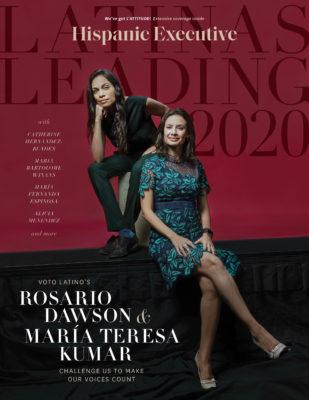 Latinas Leading 2020 cover of Hispanic Executive magazine
