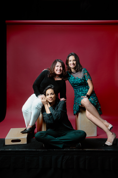 Ingrid Duran, Rosario Dawson, and María Teresa Kumar, Voto Latino