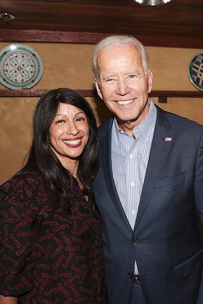 Rebecca Altamirano and Joe Biden